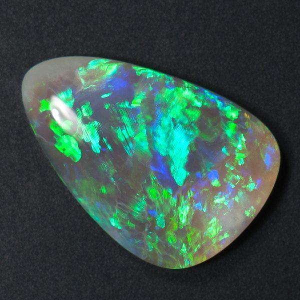 Dark Crystal Opal freeform cabochon