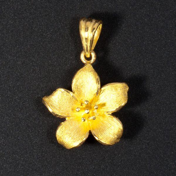 Golden Flower Pendant