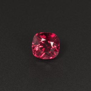 Purplish Red Spinel gemstone Cushion 0.8ct