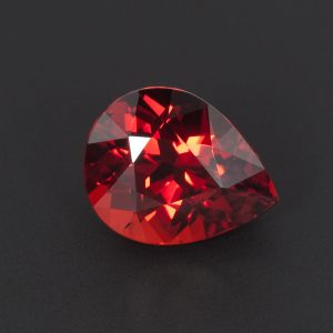 Reddish Orange Spessartite Garnet Teardrop 3.9ct