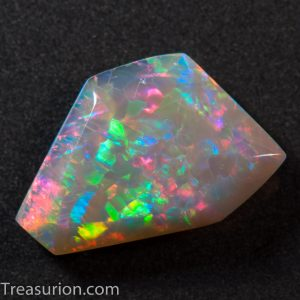 Doublesided Australian Grey Opal Sculpture 1.4ct