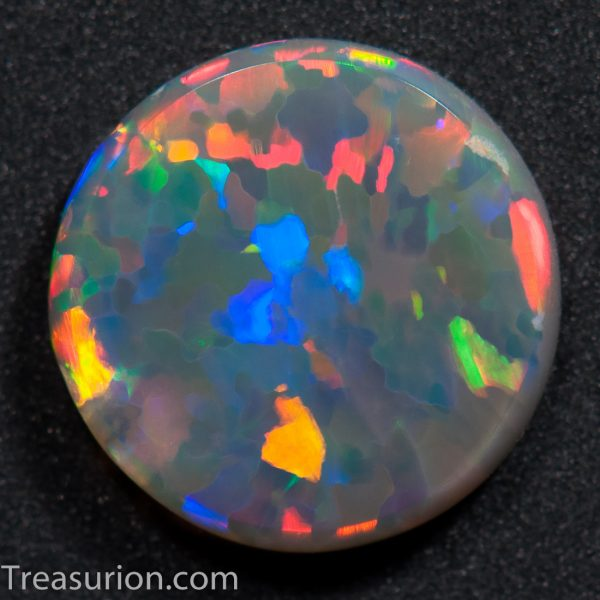 Flat Dome Mosaic Pattern Opal 0.85ct